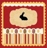 kort dekorerad easter äggvektor royaltyfri illustrationer