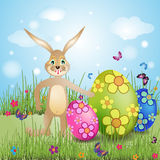 kort easter royaltyfri illustrationer