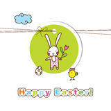 kort easter stock illustrationer