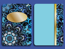 Kort eller inbjudan i orientalisk stil med den östliga blom- mandalasprydnaden Islam arabiska, indier, ottoman, kines Arkivfoton