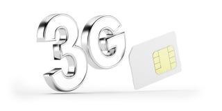 kort för 3G SIM vektor illustrationer