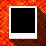 Kort för abstrakt begrepplägenhetdesign med den tomma fotoramen Arkivfoton