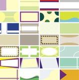 kort för affär 90x50 millimeter Arkivbilder