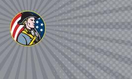 Kort för affär för amerikanHedge Fund ledning stock illustrationer