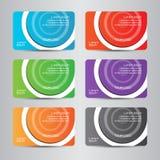 Kort för affär för full färg för affärskort modernt Arkivbild
