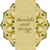 Kort för affärsmandaladesign dekorativa element arkivfoto