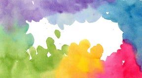 Kort för anmärkning för vattenfärgbakgrundsmall Royaltyfria Bilder