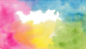 Kort för anmärkning för vattenfärgbakgrundsmall Arkivbilder
