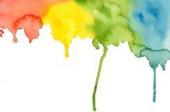 Kort för anmärkning för vattenfärgbakgrundsmall Royaltyfri Bild