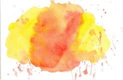 Kort för anmärkning för vattenfärgbakgrundsmall Arkivfoton