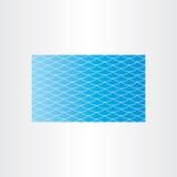 Kort för bakgrund för våg för blått vatten sömlöst Arkivfoto