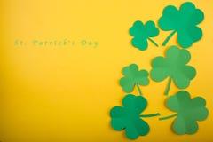 Kort för begrepp för lycklig dag för St Patrick ` s bra Arkivbilder