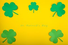 Kort för begrepp för lycklig dag för St Patrick ` s bra Arkivbild