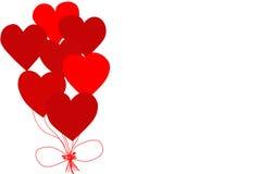 Kort för berömmen av dagen för valentin` s Fotografering för Bildbyråer