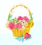 Kort för blommamuffinhälsning Royaltyfri Foto