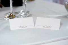 Kort för bröllopmottagande Royaltyfri Bild