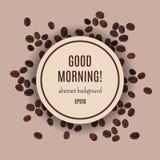 Kort för bra morgon för vektor Royaltyfri Illustrationer