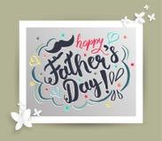Kort för dag för fader` s royaltyfri illustrationer