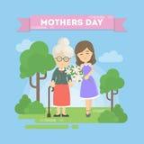 Kort för dag för moder` s royaltyfri illustrationer