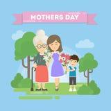 Kort för dag för moder` s stock illustrationer