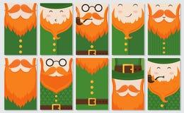 Kort för dag för St Patrick ` s royaltyfri illustrationer