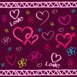 Kort för dag för valentin för Bordo pappershjärta. Royaltyfria Foton