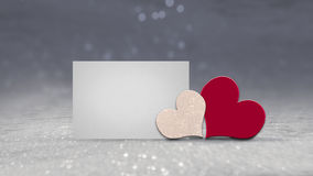 Kort för dag för valentin` s med utrymme som skriver förälskelsemeddelandet, text Royaltyfria Foton