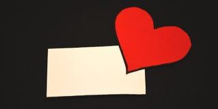 Kort för dag för valentin` s tomt Arkivbild
