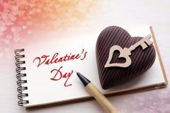 Kort för dag för St-valentin` s Royaltyfria Bilder