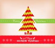 kort för design för julträd Royaltyfria Bilder