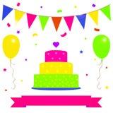 Kort för födelsedagparti Royaltyfri Illustrationer