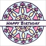 Kort för födelsedagvektorhälsning Royaltyfria Foton