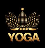 Kort för företag för yogalotusblommablomma Royaltyfri Foto