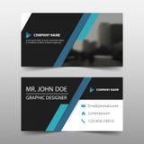 Kort för företags affär för blå svart, mall för känt kort, horisontalenkel ren orienteringsdesignmall, affärsbanermall vektor illustrationer