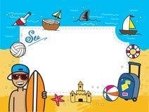 Kort för feriesommarlopp Vektor Illustrationer