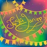 Kort för Festa juninahälsning Royaltyfri Fotografi