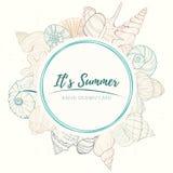 Kort för flotta för sommarparadisferie stock illustrationer