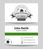 Kort för fotbollklubbaaffär stock illustrationer