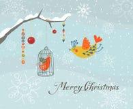Kort för glad jul Arkivfoton