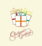 Kort för glad jul Fotografering för Bildbyråer