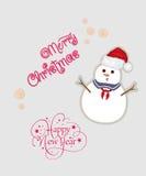 Kort för glad jul Arkivbilder