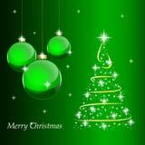 Kort för glad jul vektor illustrationer