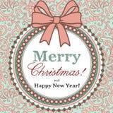 Kort för glad jul Arkivbild