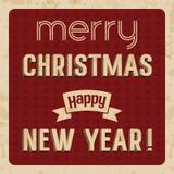 Kort för glad jul och för lyckligt nytt år Fotografering för Bildbyråer
