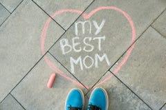 Kort för hälsning för dag för moder` s royaltyfria foton