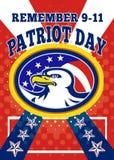 Kort för hälsning för affisch för patriotdag 911 Arkivbild