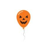 Kort för hälsning för allhelgonaaftonballonglägenhet Stock Illustrationer
