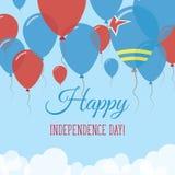 Kort för hälsning för Aruba självständighetsdagenlägenhet Royaltyfri Illustrationer