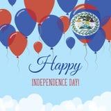 Kort för hälsning för Belize självständighetsdagenlägenhet Vektor Illustrationer