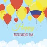 Kort för hälsning för Colombia självständighetsdagenlägenhet Royaltyfri Illustrationer